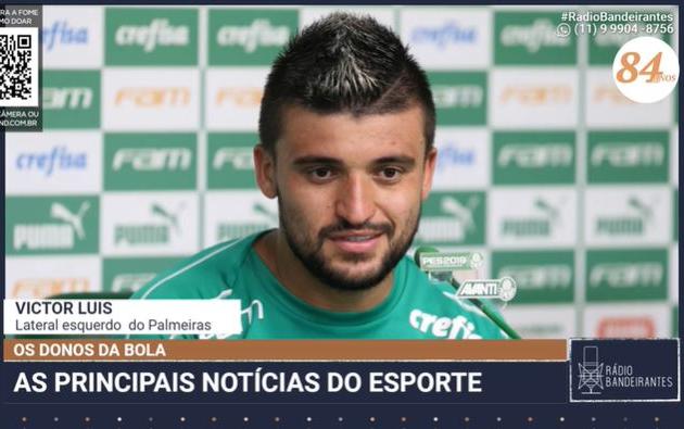 """Victor Luis comemora volta de Dudu e diz que vive momento """"surreal"""" no Palmeiras"""