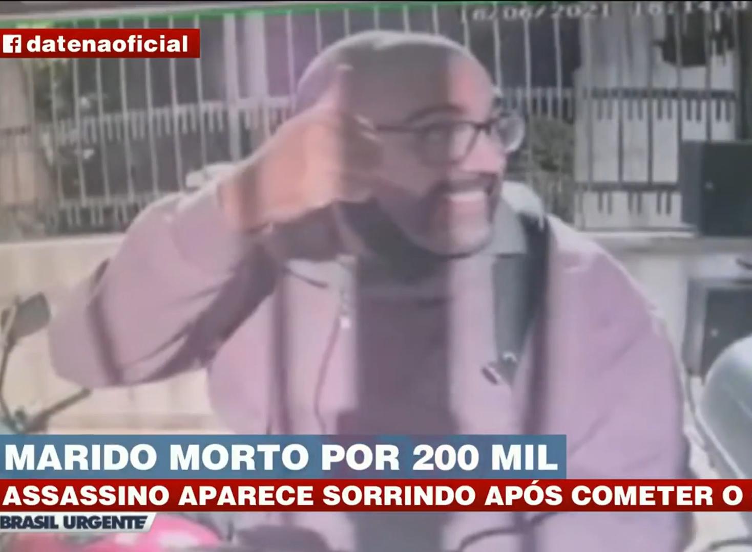 Suspeito de matar marido de Anne Frigo aparece sorrindo em vídeo após o crime