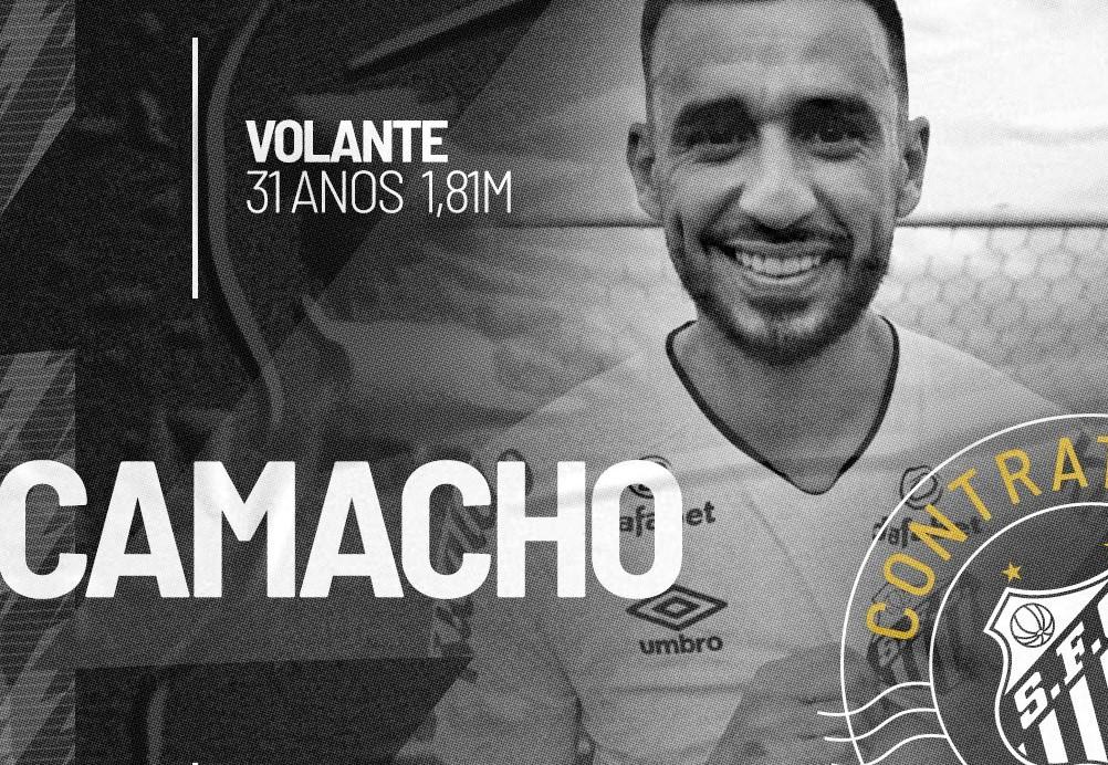 Santos confirma contratação do volante Camacho