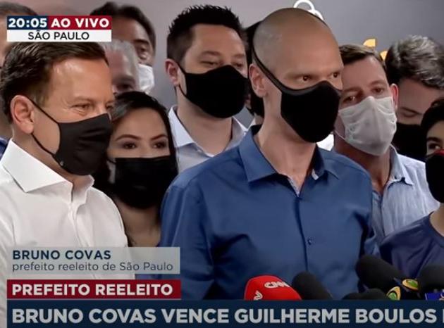 Bruno Covas foi reeleito prefeito em São Paulo