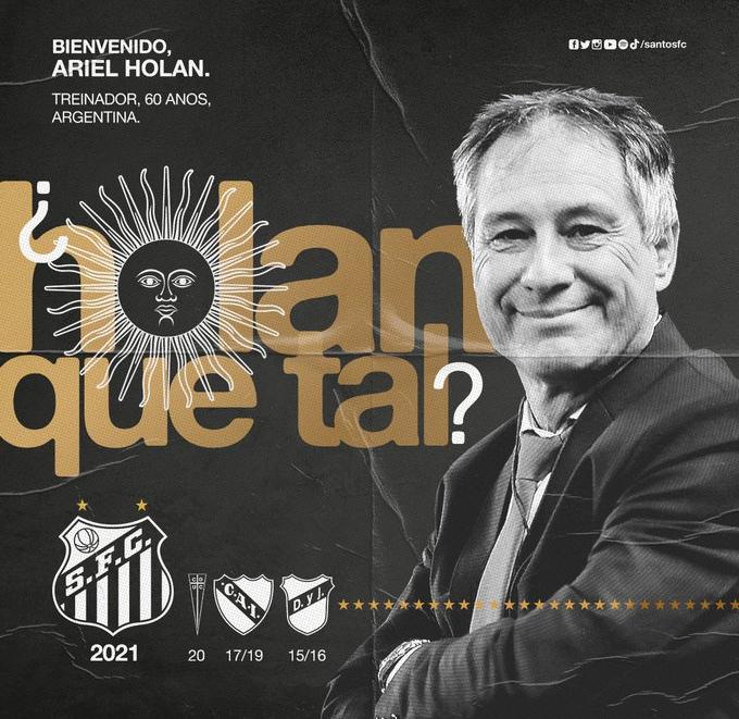 Ariel Holan é anunciado pelo Santos