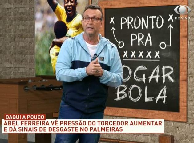 """Neto critica Abel Ferreira: """"Será que não demos muita moral para esse cara?"""""""