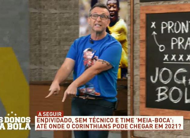"""Neto a Renato Gaúcho: """"Não vem para o Corinthians que você vai se danar"""""""
