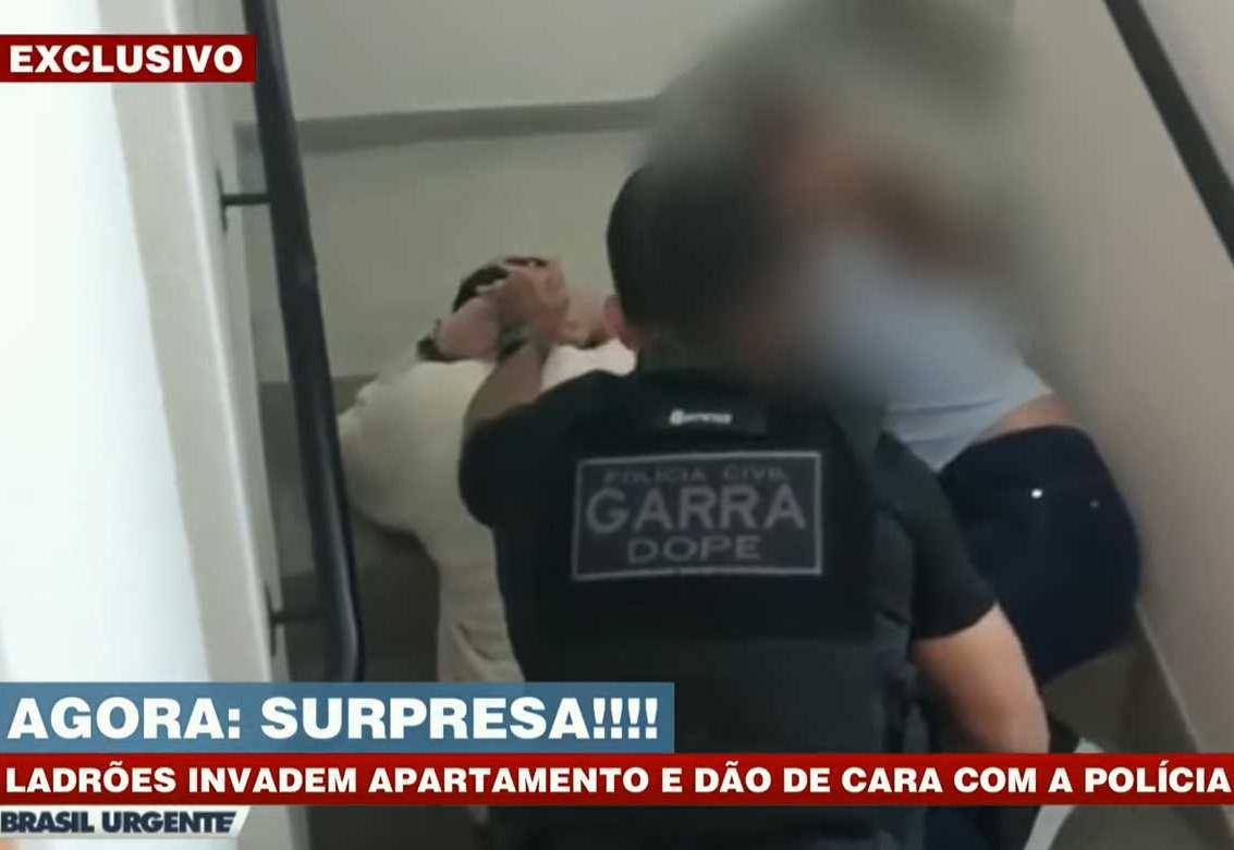 Surpresa! Ladrões invadem apartamento e dão de cara com a polícia em SP