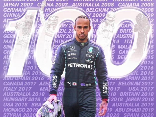 F1: Lewis Hamilton supera Verstappen e faz história com 100ª pole da carreira