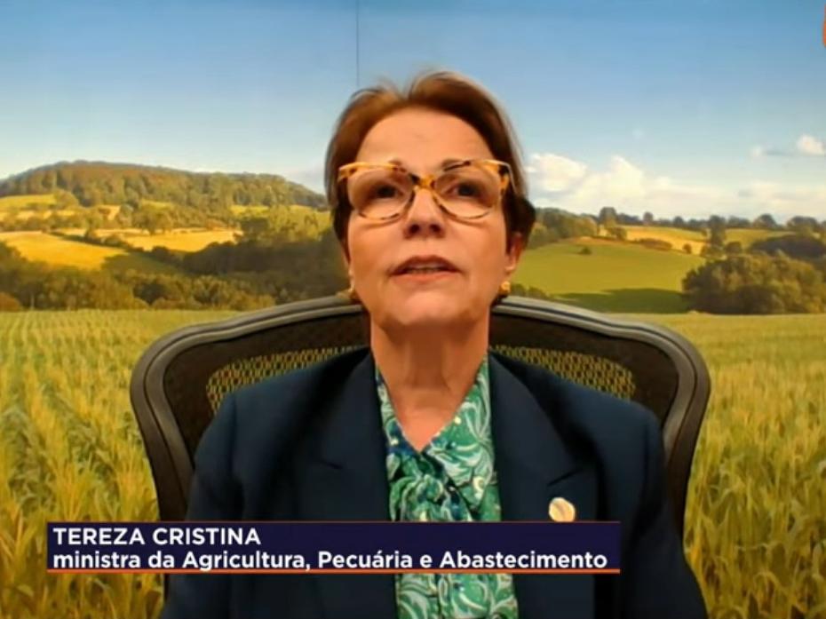Ministra prevê crescimento do agronegócio do Brasil em 2021 e aposta na China