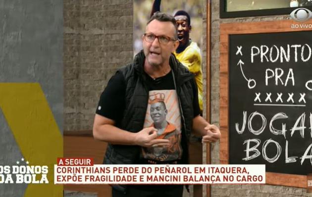 Neto defende demissão de Mancini e prevê rebaixamento do Corinthians