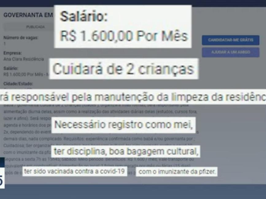 Covid-19: Vaga de emprego em Campinas (SP) exige vacina da Pfizer