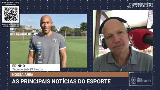 "Técnico do Sub-23, Edinho exalta ""fenômeno duplo"" da base do Santos"