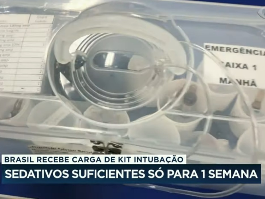 Kit intubação: carga que chegou no Brasil é suficiente só para 1 semana