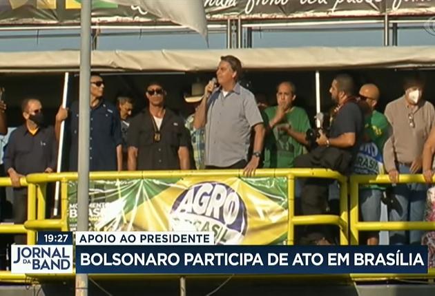 Apoiadores de Jair Bolsonaro em Brasília