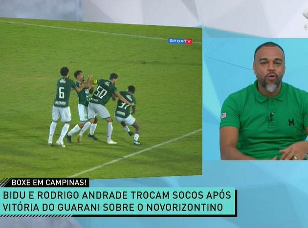 """Denílson e Renata comentaram """"cenas lamentáveis"""" em Campinas"""
