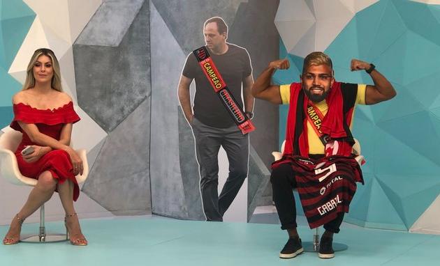 Denílson se transforma em Gabigol e provoca Renata após vice do Inter