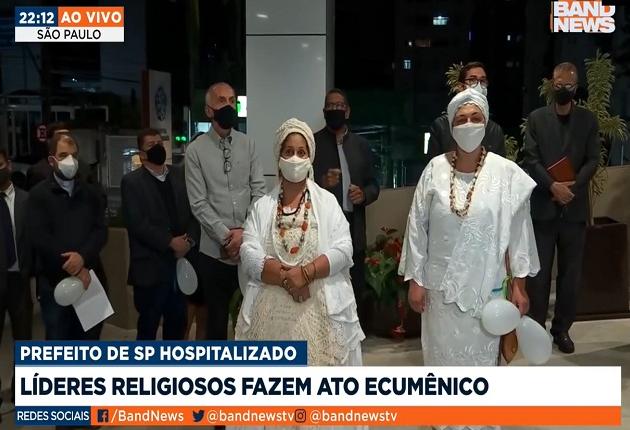 Líderes religiosos fazem ato ecumênico em frente ao hospital de Bruno Covas