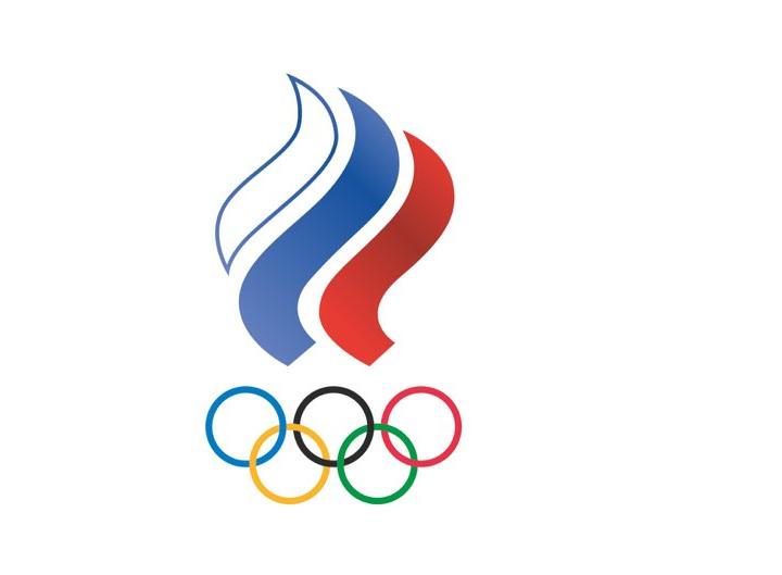 Bandeira do ROC, que substitui a russa na Olimpíada