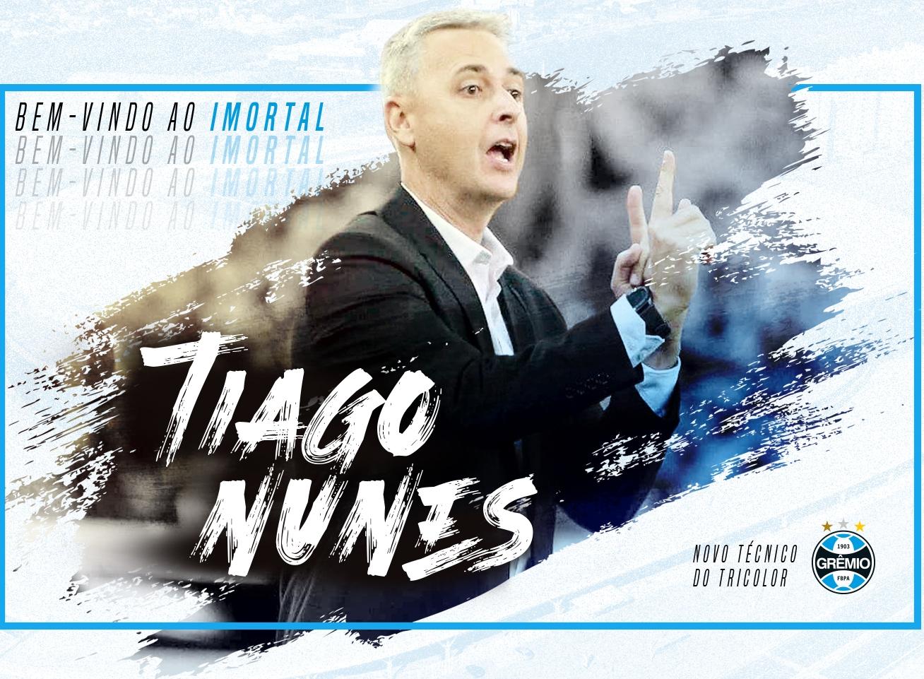 Presidente do Grêmio fala sobre chegada de Tiago Nunes e consulta a Everton Cebolinha