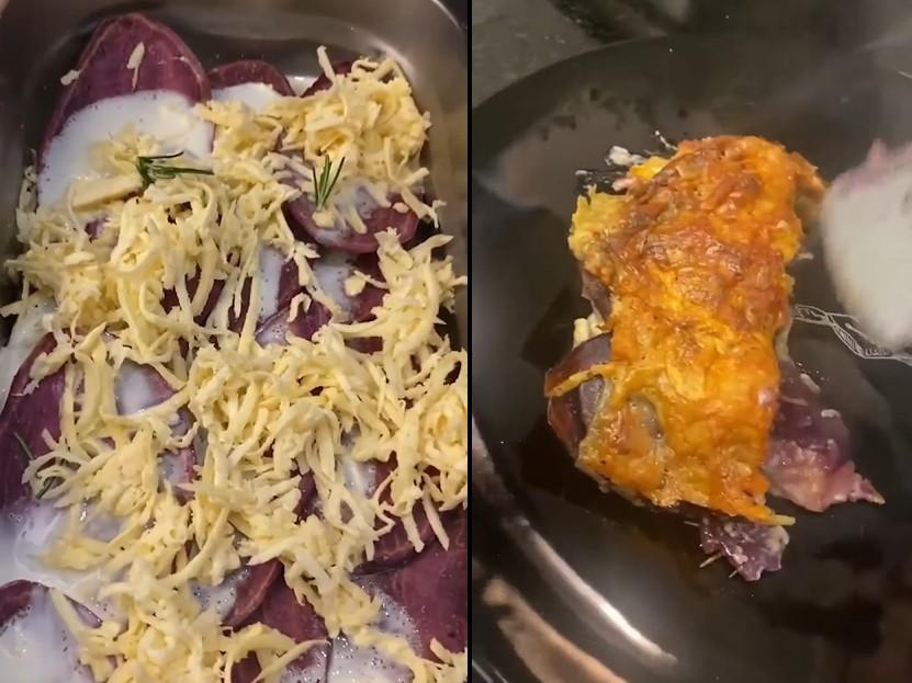 Aprenda a fazer um gratin de batata doce com o chef Henrique Fogaça