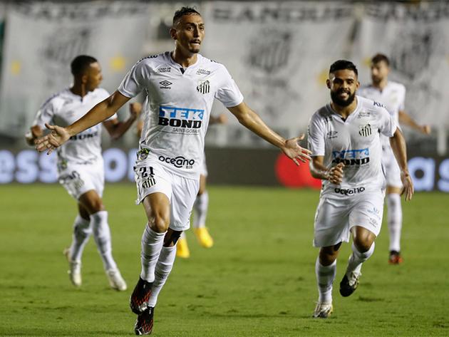 Diego Pituca abriu a vitória do Santos na Vila Belmiro