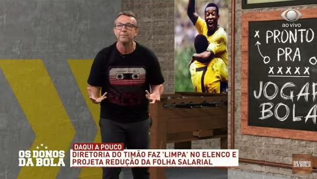"""Neto se revolta com folha salarial """"de campeão"""" e lista de dispensas do Corinthians"""