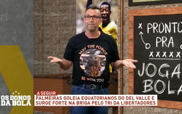 Neto aplaude Palmeiras por goleada, mas questiona declarações de Abel