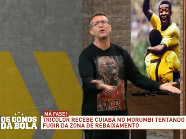 Neto critica Crespo por tirar São Paulo da lista de favoritos do Brasileiro