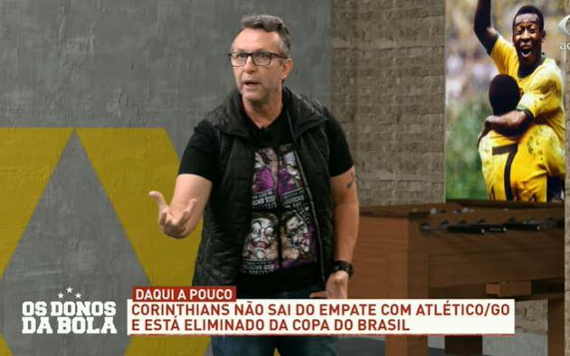 """Neto perde a linha com Sylvinho após eliminação: """"Bota uma girafa no time"""""""