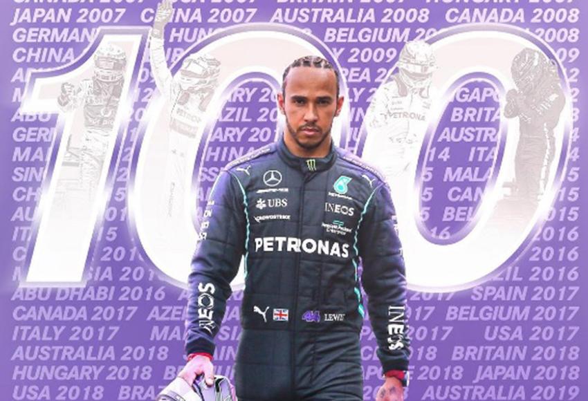 Lewis Hamilton conquista 100ª pole da carreira e faz história na F1