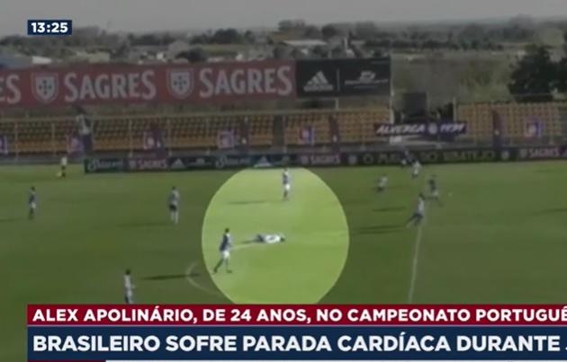 Jogador brasileiro sofre parada cardíaca em Portugal e é reanimado no estádio